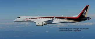 mitsubishi aircraft corp. takes off with amos for new mrj90 flight